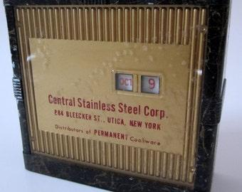 Advertising Mechanical Metal Bank Vintage Steel Utica New York Rare