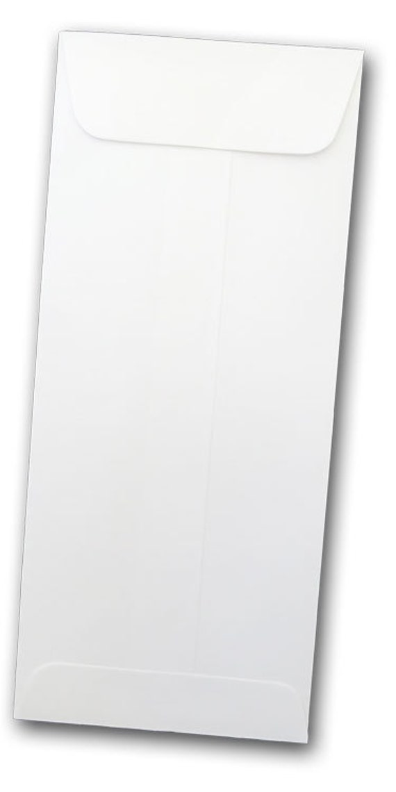 WHITE No. 10 open end policy envelopes 50 pack