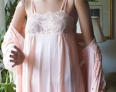 REDUCED for the HOLIDAYS NEW Emilio Pucci Dead Stock from Saks Fifth Ave Unworn  Elegant Peignoir Set Pale Peach