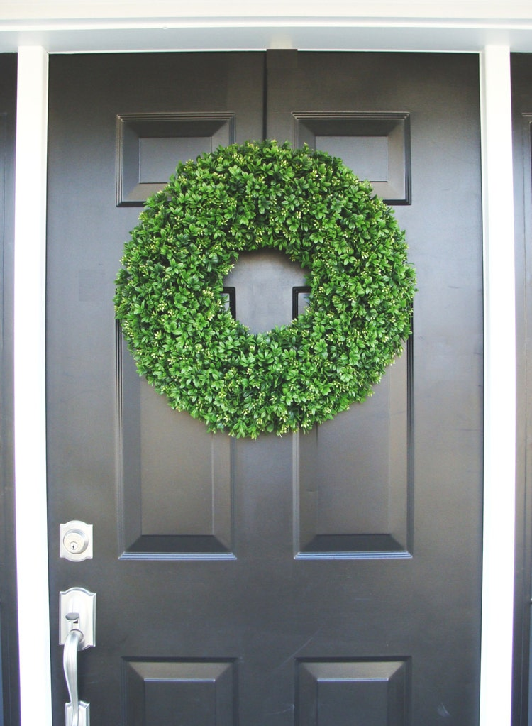 Realistic 20 Inch Faux Boxwood Wreath Sizes 14 To By