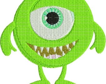 Cute Little Monster Cyclops Machine Embroidery Design 4x4 and 5x7 Instant Download
