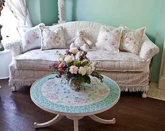 popular items for shabby chic sofa on etsy. Black Bedroom Furniture Sets. Home Design Ideas