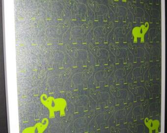 Lime Elephant .. Magnet Dry Erase Steel Memo Board / Housewarming Gift / Co-Worker / Wall Decor / Office Decor / Desk / Organization / Dorm