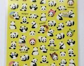 Cute Panda Stickers / Panda Bear Stickers From Japan - Panda And Donuts, Hungry Panda