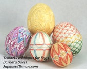 Temari Techniques for Eggs - Patterns and Tips