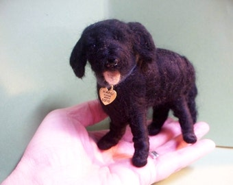 Brown Labrador Felted Wool Dog Ornament