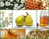 Honey Pear Chamomile Jam Homemade Gourmet Condiment  Appetizer