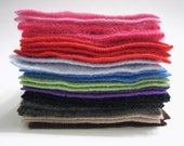 "Felted Cashmere Sweater Fabric Squares 24 Pieces - 4"" x 4"" - Collection No. 27"