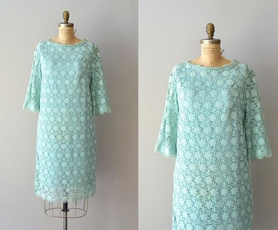 1960s dress / lace 60s dress / De Menth lace shift dress