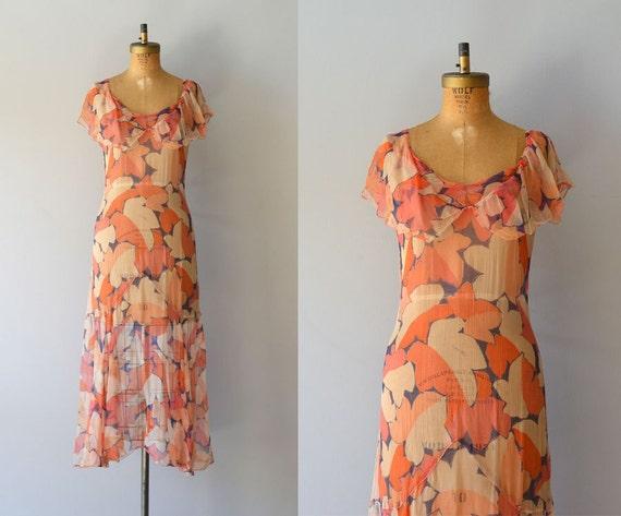 vintage 20s dress / chiffon 1920s dress / Broken by DearGolden