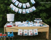Train Birthday PRINTABLE Party Collection - You Customize EDITABLE TEXT Instant Download