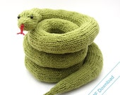 Toy Snake Digital Pattern. Knit Your Own Coiling, Sidewinder or Straight Snake.