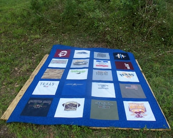 Full Size Tshirt Quilt Custom made with 20 Tshirts