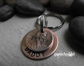 Lucky us , Hero copper Key chain with one  lucky penny