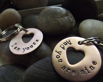 I am yours And you are mine, Couples Keychains, Partners Keychains, Friends Keychains, Anniversary gift