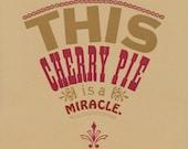 A la mode, a cherry pie print
