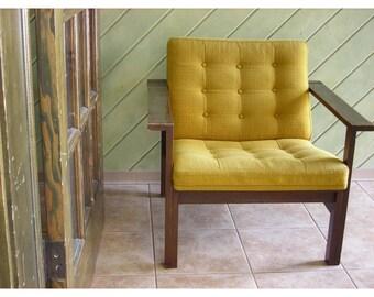Modern Moduline Seating System Arm Chair France&Son HTF Dark Oak Made in Denmark Vintage