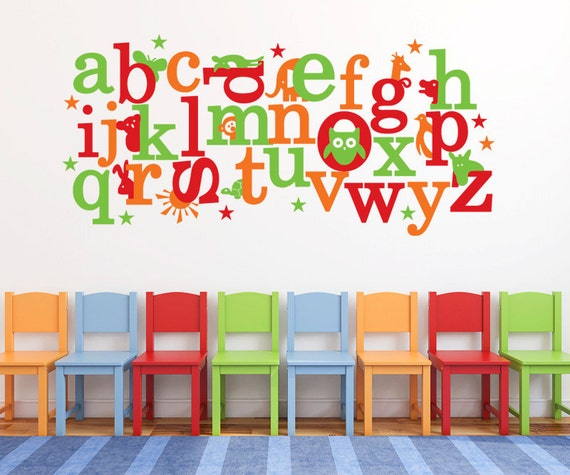 Animal ABC Stickers - Childrens Wall Decal  DB172