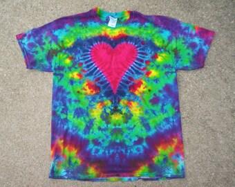 Beautiful Heart Tie Dye Size Large