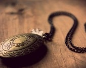 Locket of Clofullia. Antiqued Brass Perfume Locket Necklace. - cloven
