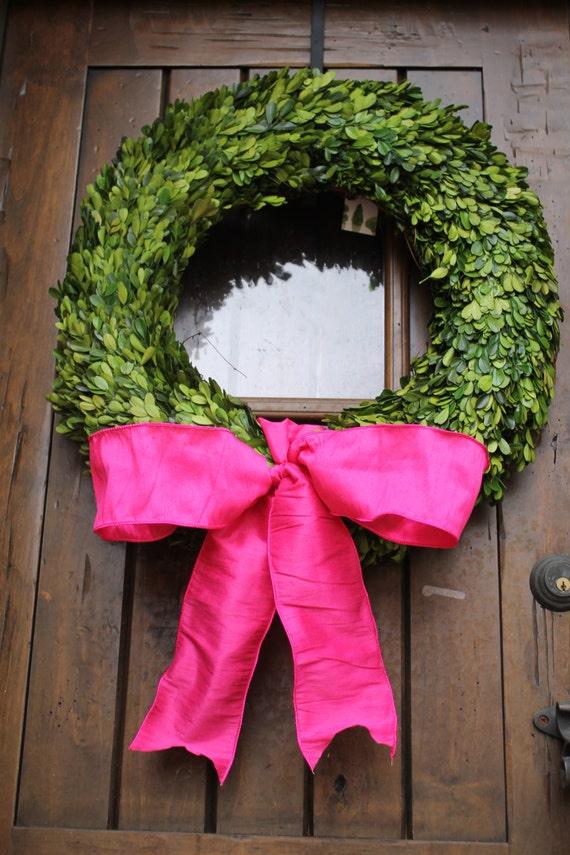 Items Similar To Boxwood Wreath Valentine Door Wreath 24