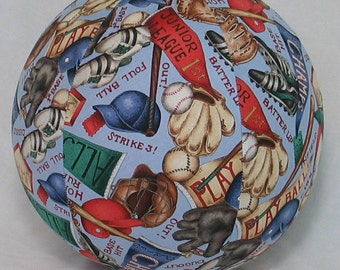 Balloon Ball with Baseball Fabric - as seen with Michelle Obama on Parenting.com