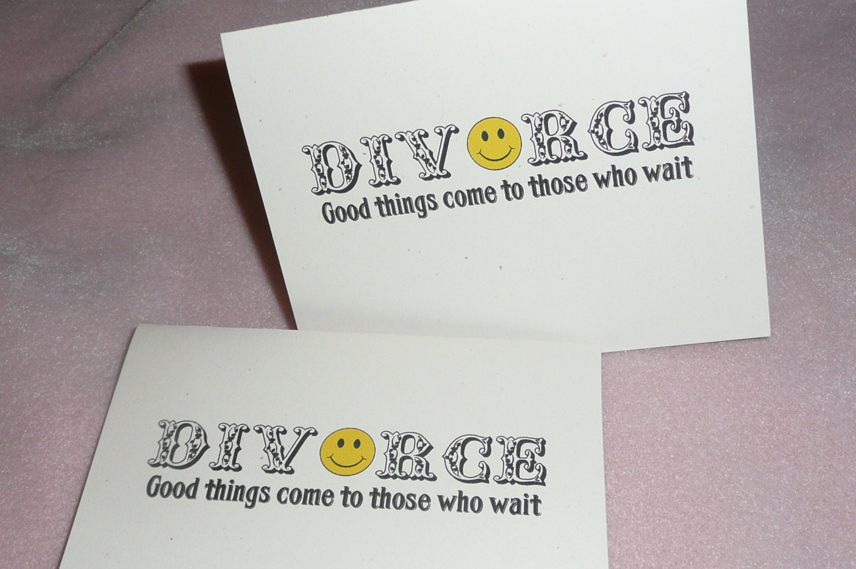 Happy Divorce Cards Set of Two Divorce Cards