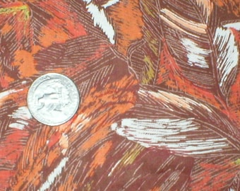5 yards 36 wide Vintage 50s cotton abstract print dressmaking / quilting fabric