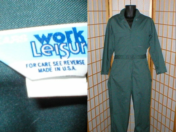 Vintage 80s Coveralls Jumpsuit By Sears Work Leisure Made In