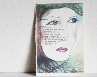 Studio Clearance Sale! portrait of a tree girl by Julie Tillman - print of my original painting