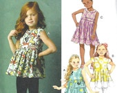 GIRLS CLOTHES PATTERN / Make Child Top - Tunic - Dress - Leggings / Sizes 2 to 5 Or 6 to 8