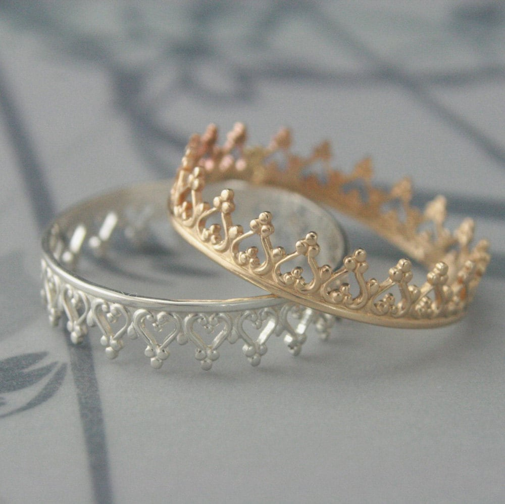 Crown Ringsolid 14k Yellow Gold Crown Ringcrown