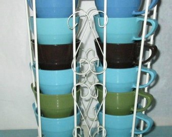 Lot of 12 SOLO 68A Cup Holders with Metal Stand and 200 NIP Cups
