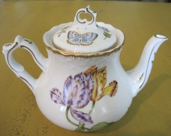 "Vintage Anna Weatherly ""Old Master's Tulips"" Tea pot"