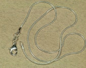"""Snake Chain, .925 Silver Plated Snake Chain Necklace 16"""", Necklace Chain"""