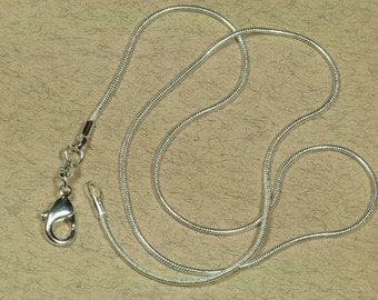 "10 Snake Chains, .925 Silver Snake Chain Necklaces 16"", Silver Necklace Strands ( 16-92-523)"