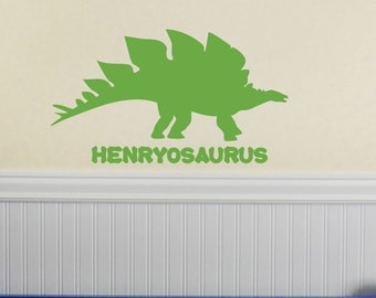 Stegosaurus Decals Etsy - Custom vinyl wall decals dinosaur