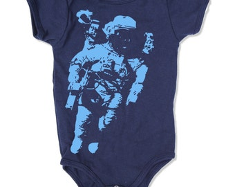 Baby One-Piece SPACE Astronaut -  american apparel (2 Color Options) - FREE Shipping