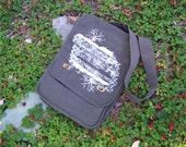 Crossbody Bag - Oak Tree, Mighty Oak, abstract design, Field Bag, Purse, Man Bag, spring fashion, canvas bag, rctees, original design