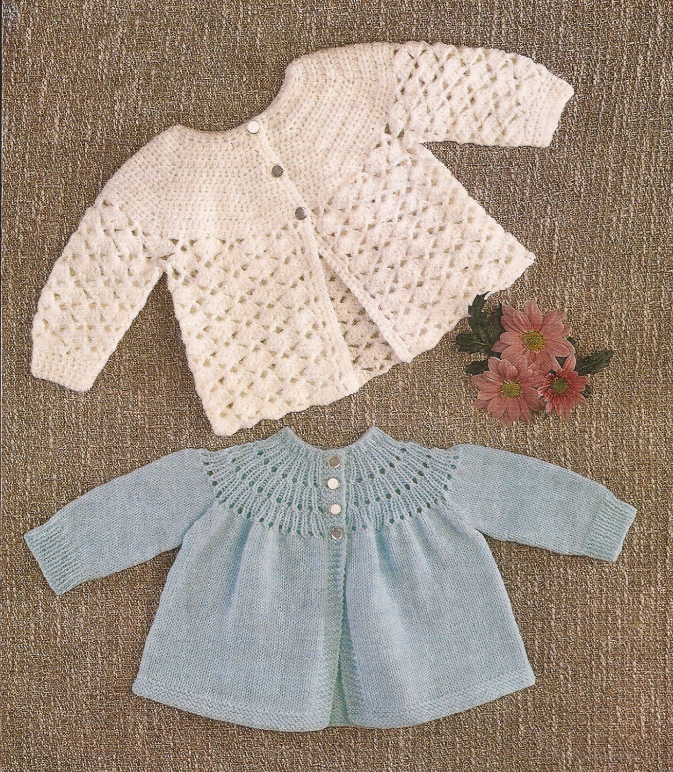 Babys Matinee Angel Tops - Crochet and Knitting Pattern PDF Sizes 18-20