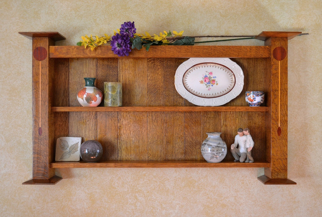 Arts and crafts wall shelf for Arts and crafts bookshelf