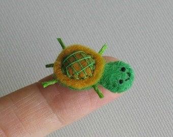Turtle miniature felt plush