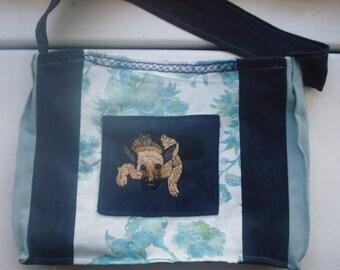 Hand-Embroidered Fabric Bag, German Shepherd, on sale