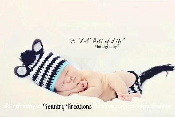 ZEBRA Baby Hat/ Zebra Hat/ Crochet Zebra Hat  (Ready to Ship)