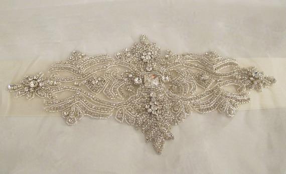 Rhinestones Bridal Sashes Crystal Beaded Bridal Wedding  Belt