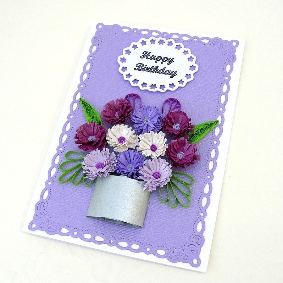 Paper Quilling Card Paper Quilled Personalized Birthday