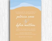 Beach Wedding Invitation - Destination Wedding Printable