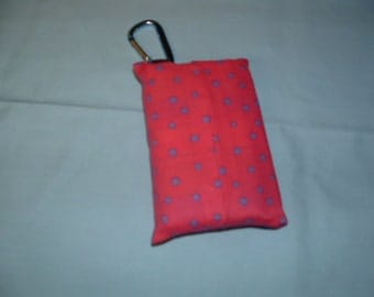 Pink with Purple Polk a Dots Tissue Holder With Clip