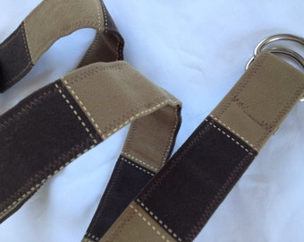 D Ring belt, suede squares, s/m