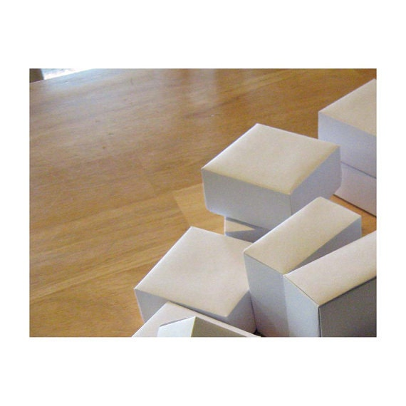 Wedding Favor Boxes White : Inch box wedding favor boxes winter white